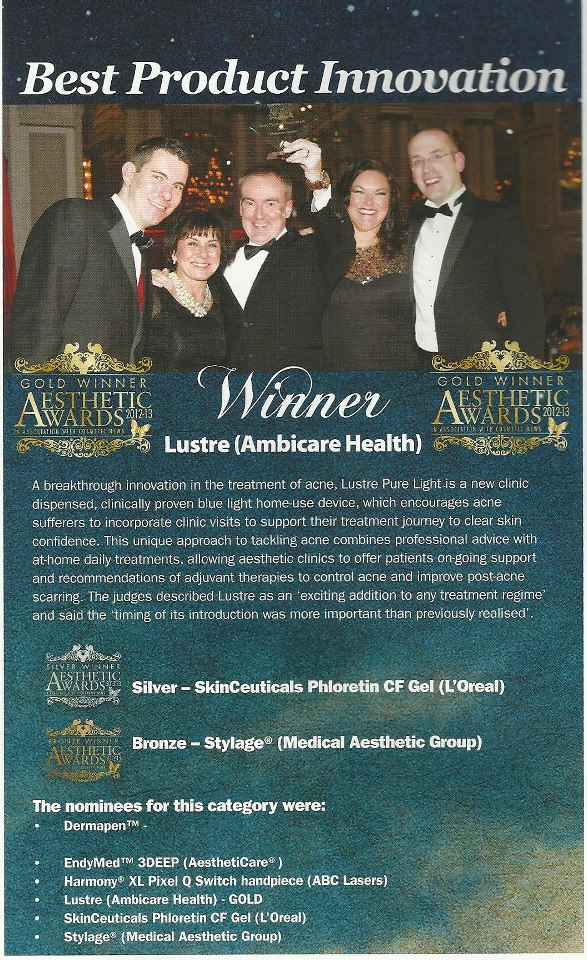 lustre aesthetic award