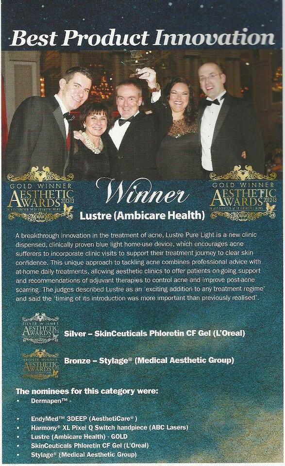 lustre aesthetic award