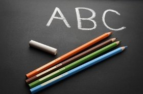 chalk board ABC