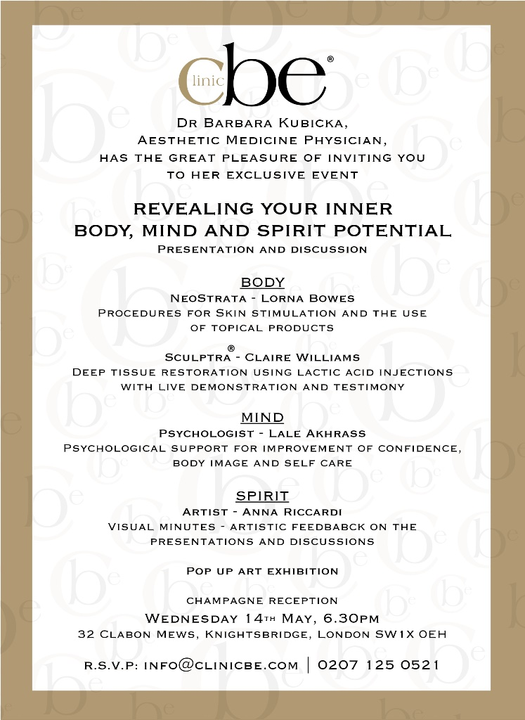 Body, Mind, Spirit event invitation
