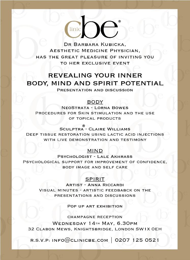 Body, Mind, Spirit event invitation