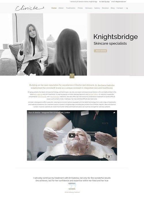 Clinicbe website 2017