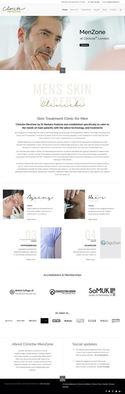 clinicbe menzone home page